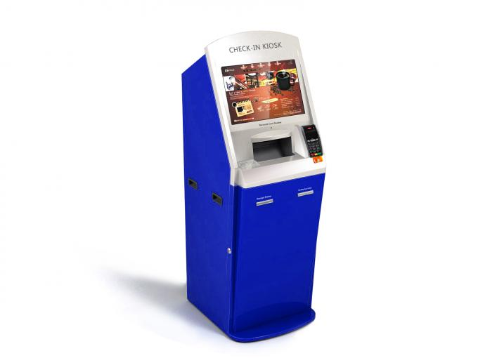 Blue Card & Cash Bill Payment Kiosk With Cash & Coin Acceptor