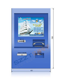 ZT2830 Custom Wall Mounted Retail / Financial Banking Kiosk with Coin Acceptor, Cash Acceptor