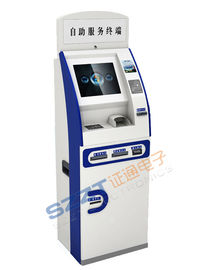 China ZT2078 Self Service Bill Payment & Card Dispenser Lobby Kiosk with Receipt and Bill Printing supplier