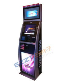 ZT2188 Lobby Style Dual Screen Ticket Vending Kiosk with Ticket printer & Card Reader