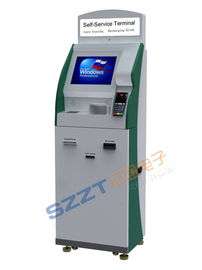 China ZT2405 Multifunction Free Standing Airline Lobby Check - In / Ticket Vending Kiosk with POS Terminal supplier