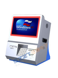 China ZT2833 Series Desktop Information / Financial / Retail Mall Kiosk with Card Reader supplier