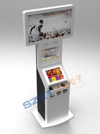 China ZT2222 Large Dual Screen Bill Payment Kiosk with Cash Acceptor & card issuing supplier