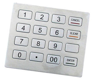 China PCI Pin Pad RS-232 IP65 Stainless Kiosk keypad Support DES, Triple DES Algorithm supplier