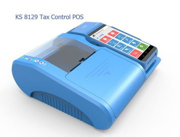 Mobile Cashier Smart Tax POS Terminal with VAT Invoice Printing , Light Blue