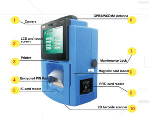 ZT2312 Wall mounted Bill Payment Kiosk / Smart Payment Terminal Blue Yellow