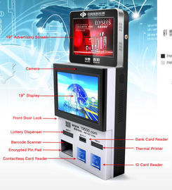 Dual Screen Bill Payment Kiosk Wall – Mounted With Card Reader / PCI EPP
