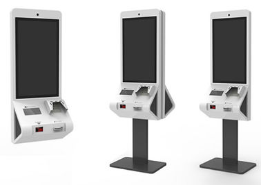 Convenient Operation Food Ordering Kiosk With POS Terminal Credit Card Payment