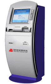 32 Inch Full HD Self Check In Kiosk Airport With Passport Reader / Scanner