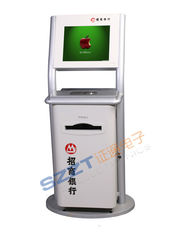 ZT2176 Custom Free Standing Information, Retail Mall Kiosk with Metal Keyboard, A4 Printer