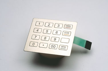 China ZT592A Stainless Steel Keypad / PCI Pin Pad for Information Kiosks supplier