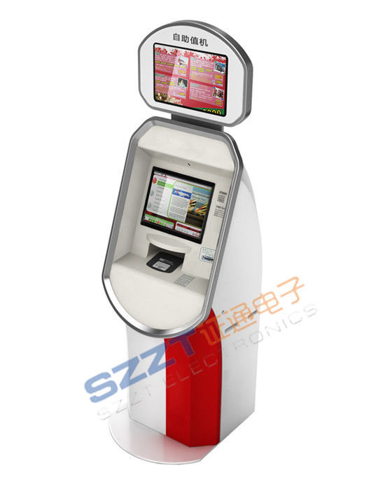 Zt2187 Airport Lobby Self Check In Kiosk With Boarding Pass Printer