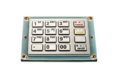 China PCI EPP Stainless Steel Keyboard , Encrypting PIN Pad For Password Input On ATM Machine factory
